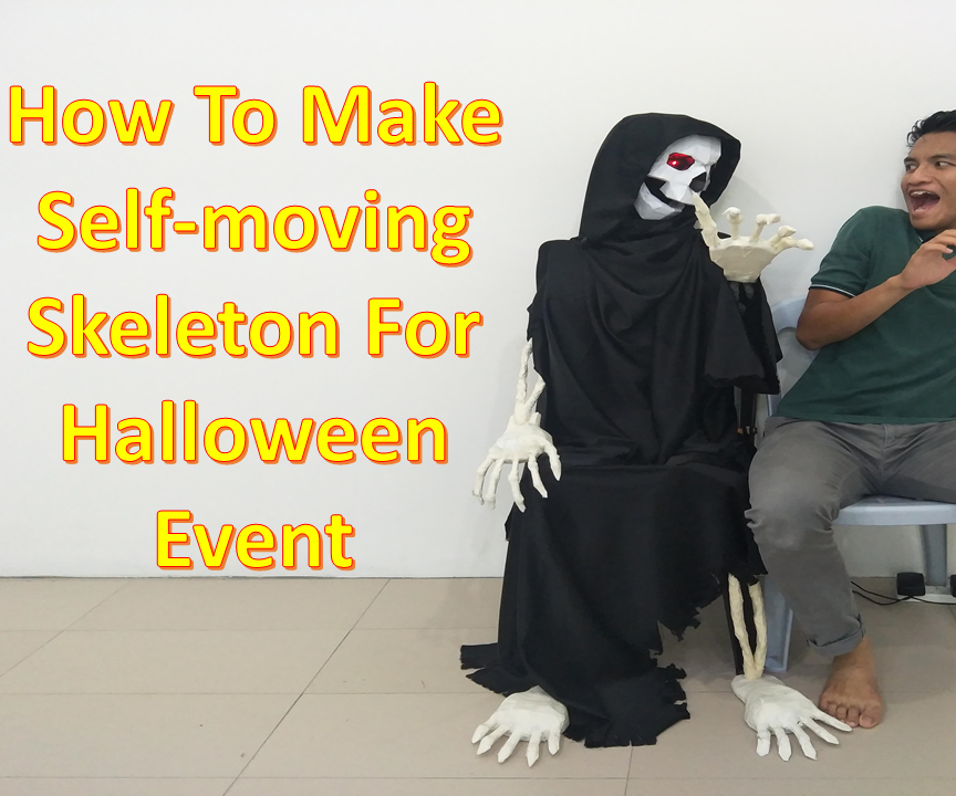 Self-moving Skeleton for Halloween Event