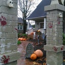 Halloween Cemetery Entry Pillars