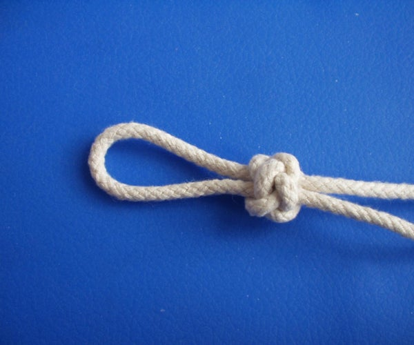 Knife Lanyard Knot Tied on the Table