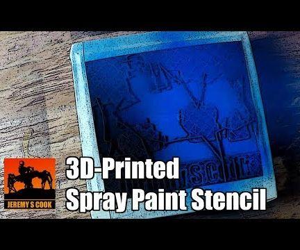 3D-Printed Spray Paint Stencil