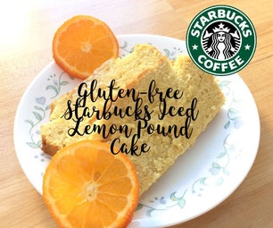 面筋免费星巴克被冰的柠檬磅蛋糕杂志食谱