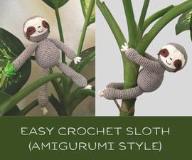 Easy Crochet Sloth (Amigurumi Style)
