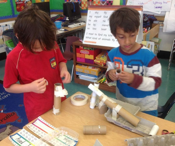 Rube Goldberg Inspired Marble Roll - 1st Grade Tinkering - Week 8