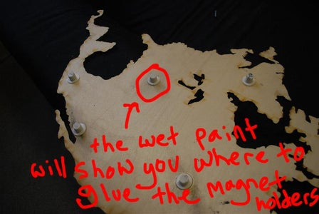 Step 4: Position and Attach the Continents
