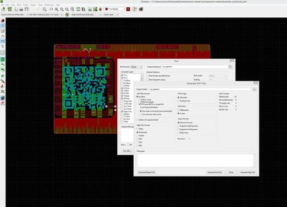 Generate Gerbers and Drill Files