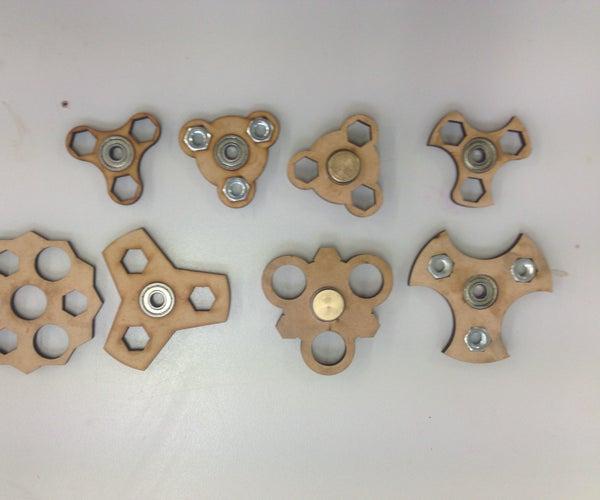Laser Cut MDF Fidget Spinner