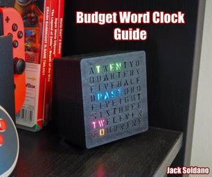 预算Arduino RGB Word时钟!