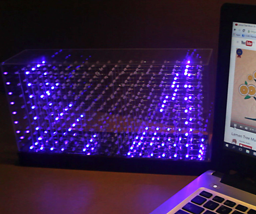 3D Stereo Audio Spectrum Visualizer