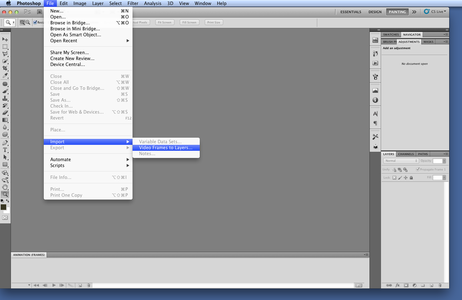 Importing Video to Photoshop