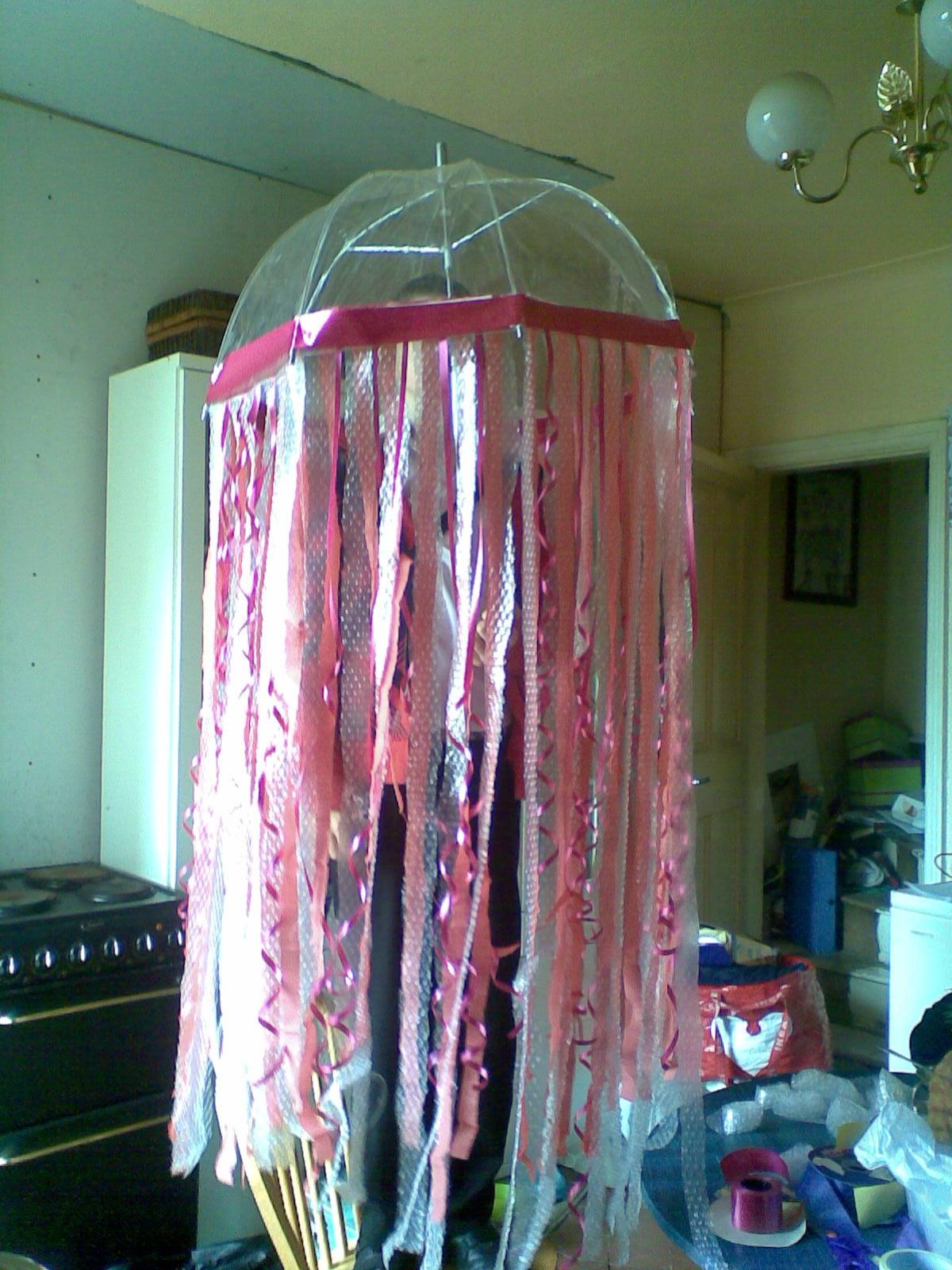 Simple deep sea jelly fish costume