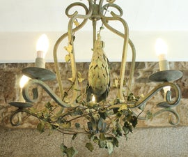 Vintage Rooster Chandelier From NYC Dumpster to French Farmhouse