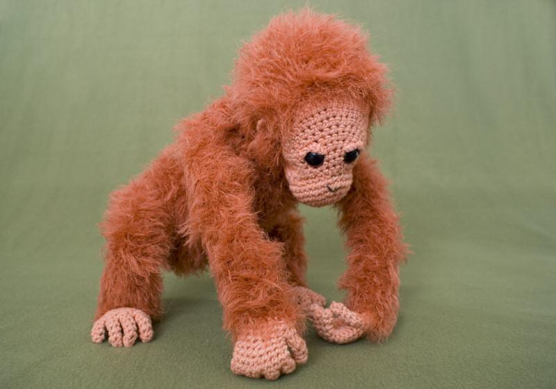 Crocheted Orangutan