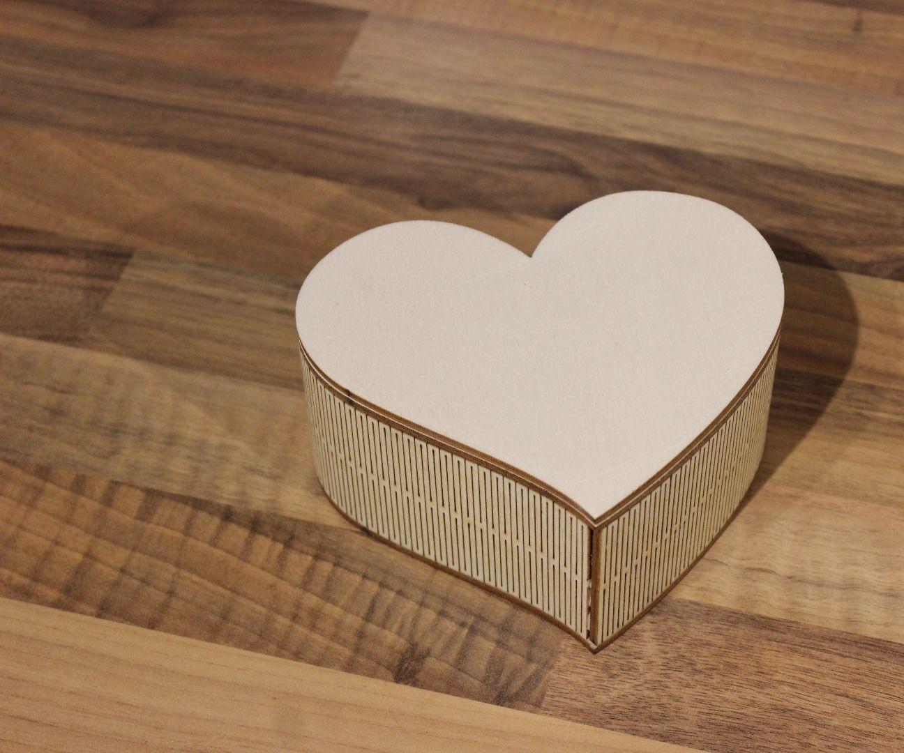 Laser Cut Heart Shaped Box