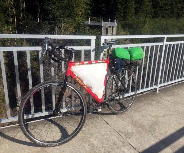 Bike Frame Bag From a Recycled Sail