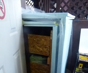 Mini Root Cellar in Stair Well.