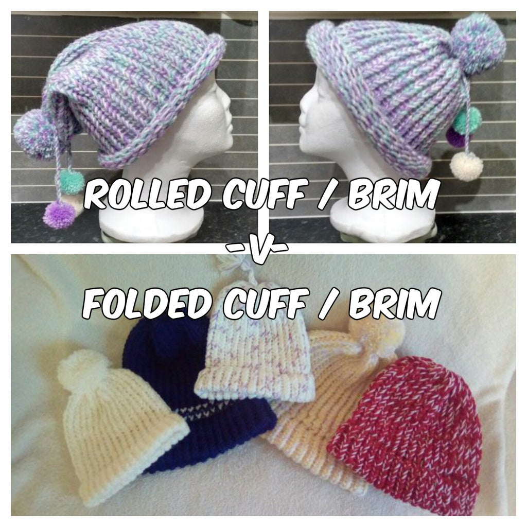 Optional Folded Brim / Faux Ribbed Brim