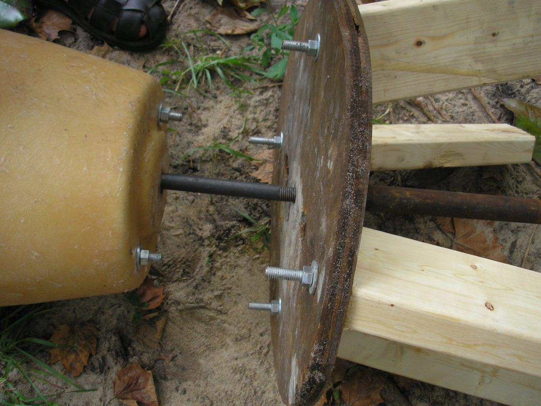 Set Rotor Mold on Stool
