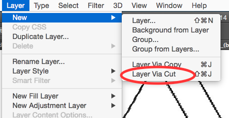 Select the Geometric Object From the Background Into New Layer