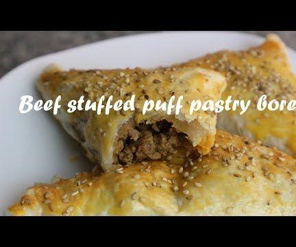 Beef Stuffed Puff Pastry Borek Recipe