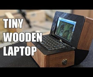 Tiny Wooden Laptop