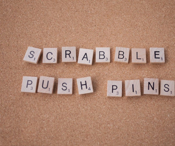Scrabble Push Pins