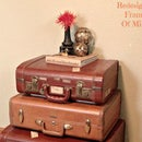 Stacked Suitcase Table