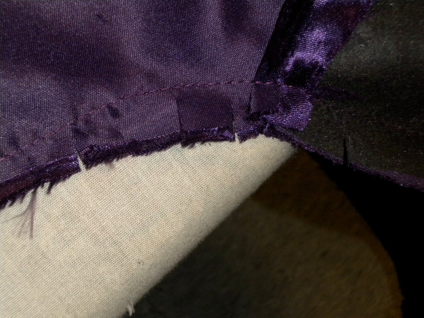 Join Lining to Front at Armhole