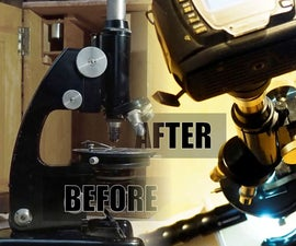 Revive an Old Microscope: Proper Cleaning, New Light Source (with Plywood) and Camera Adapter