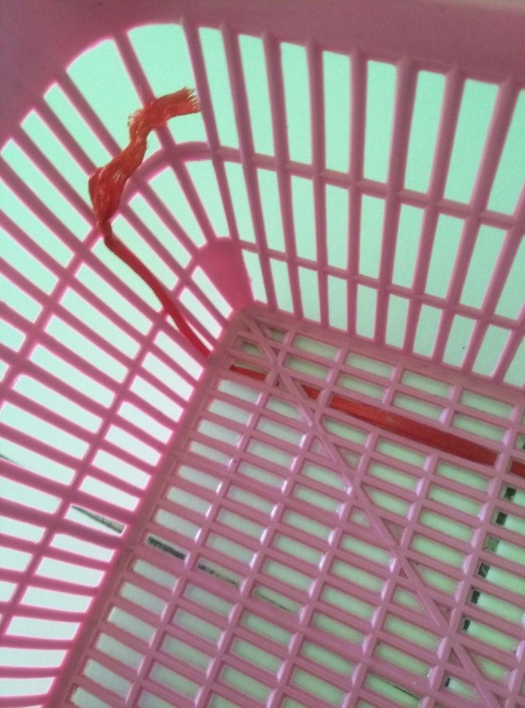 Ribbon and Plastic Basket