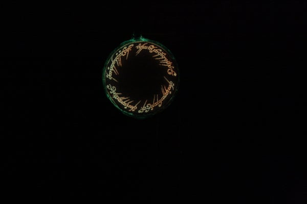 """Glowing """"One Ring"""" Inscription Pendant"""