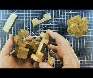 Make and Solve a 6 Piece Burr Puzzle