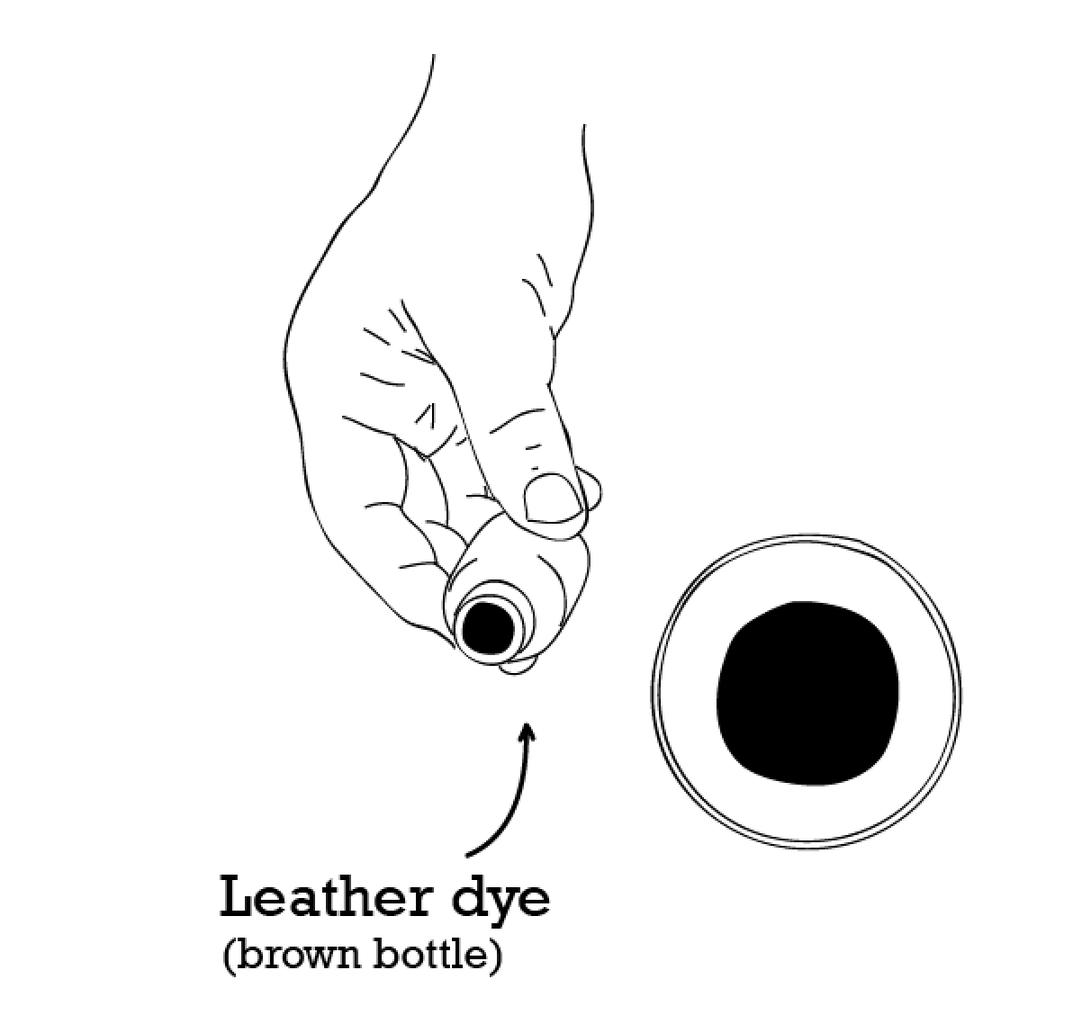 DYE AND SEAL THE LEATHER