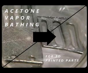 Acetone Vapor Bathing ABS Parts