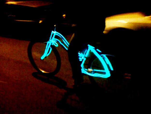 Pedal Powered EL Wire Bike