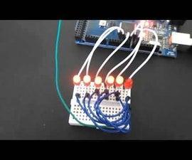 Visuino Running LED