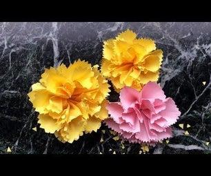 易折纸康乃馨花