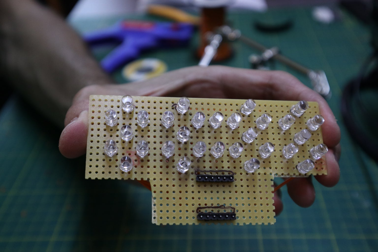 Soldering LEDs and Pin Headers