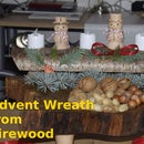 Advent Wreath from Firewood