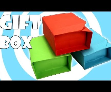 Paper Origami Gift Box With Lid