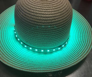 Arduino蜂鸣器/灯光温度警报帽原型