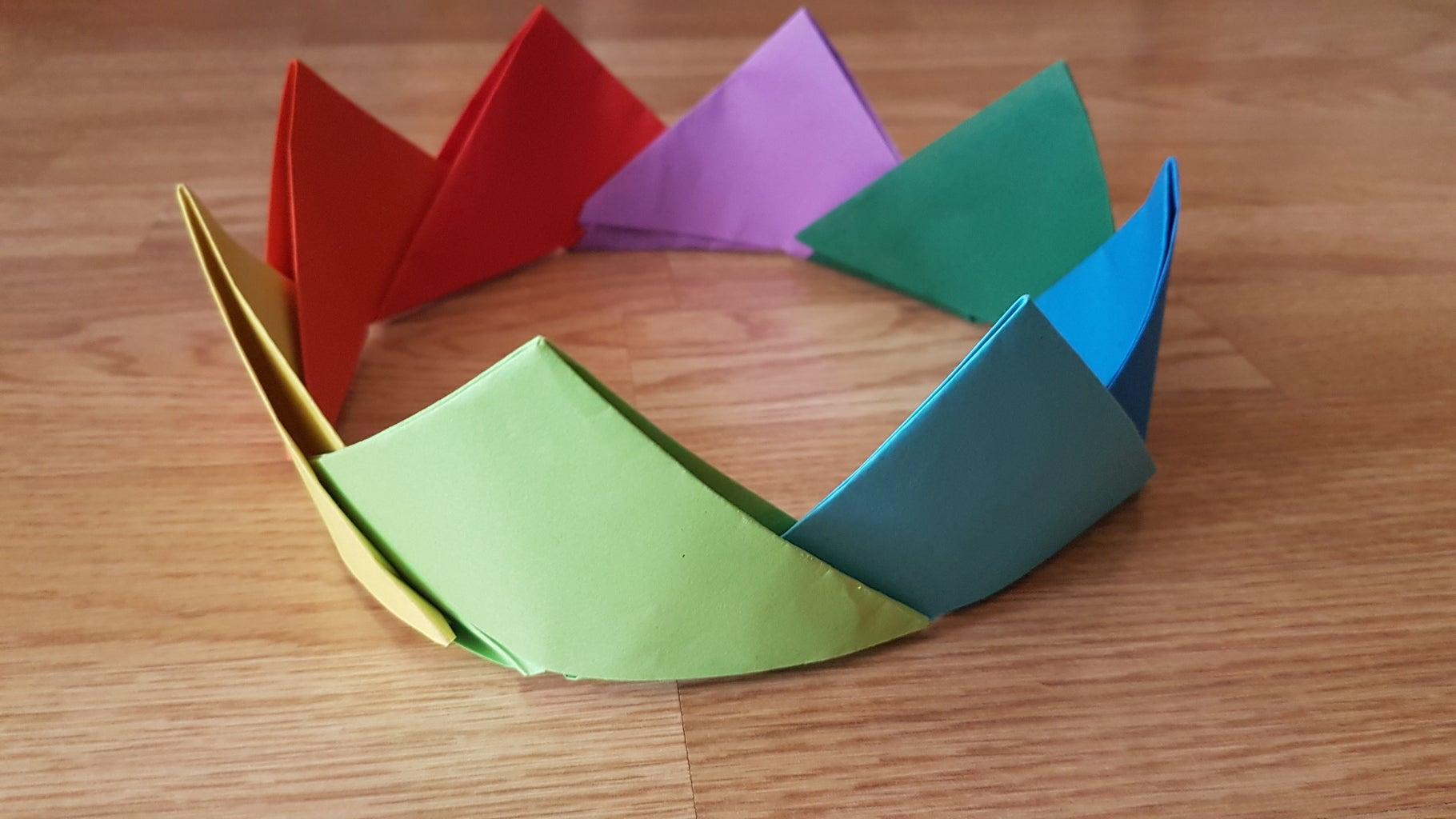 Origami Rainbow Crown