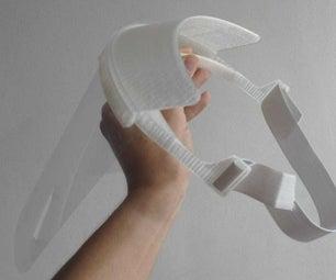 如何制作一个升起的3D印刷脸部盾牌