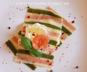 Open Ravioli With Mascarpone Sauce & Smoked Salmon