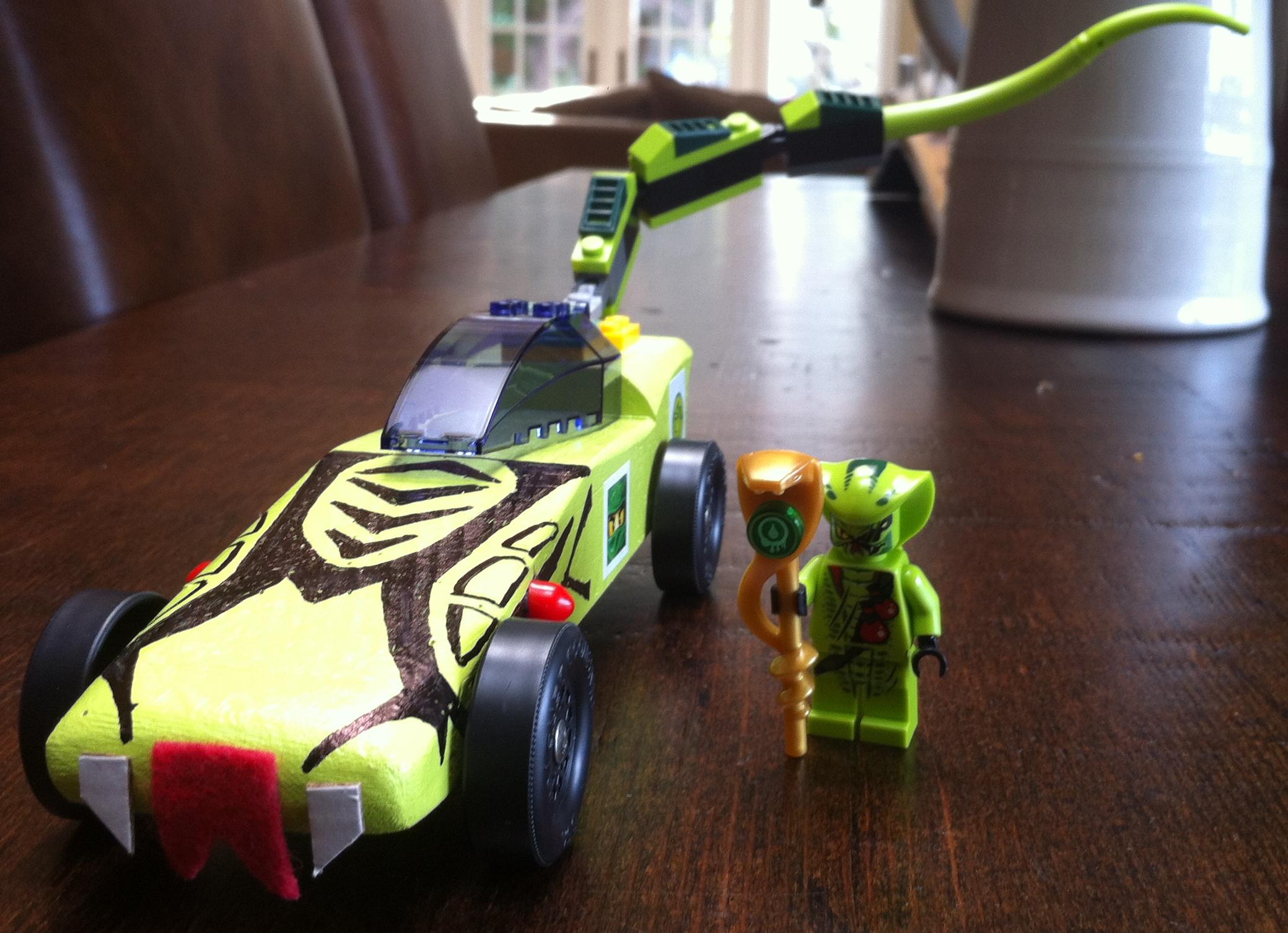 Pinewood Derby Car inspired by LEGO Ninjago