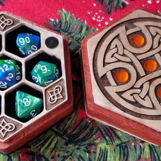 Laser Cut Magnetic Dice Boxes