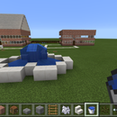 Minecraft Houses garden and fountain