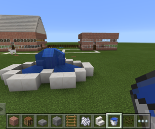 Minecraft Houses Garden and Fountain