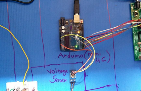 The Voltage Sensor Sends This Value to the Arduino