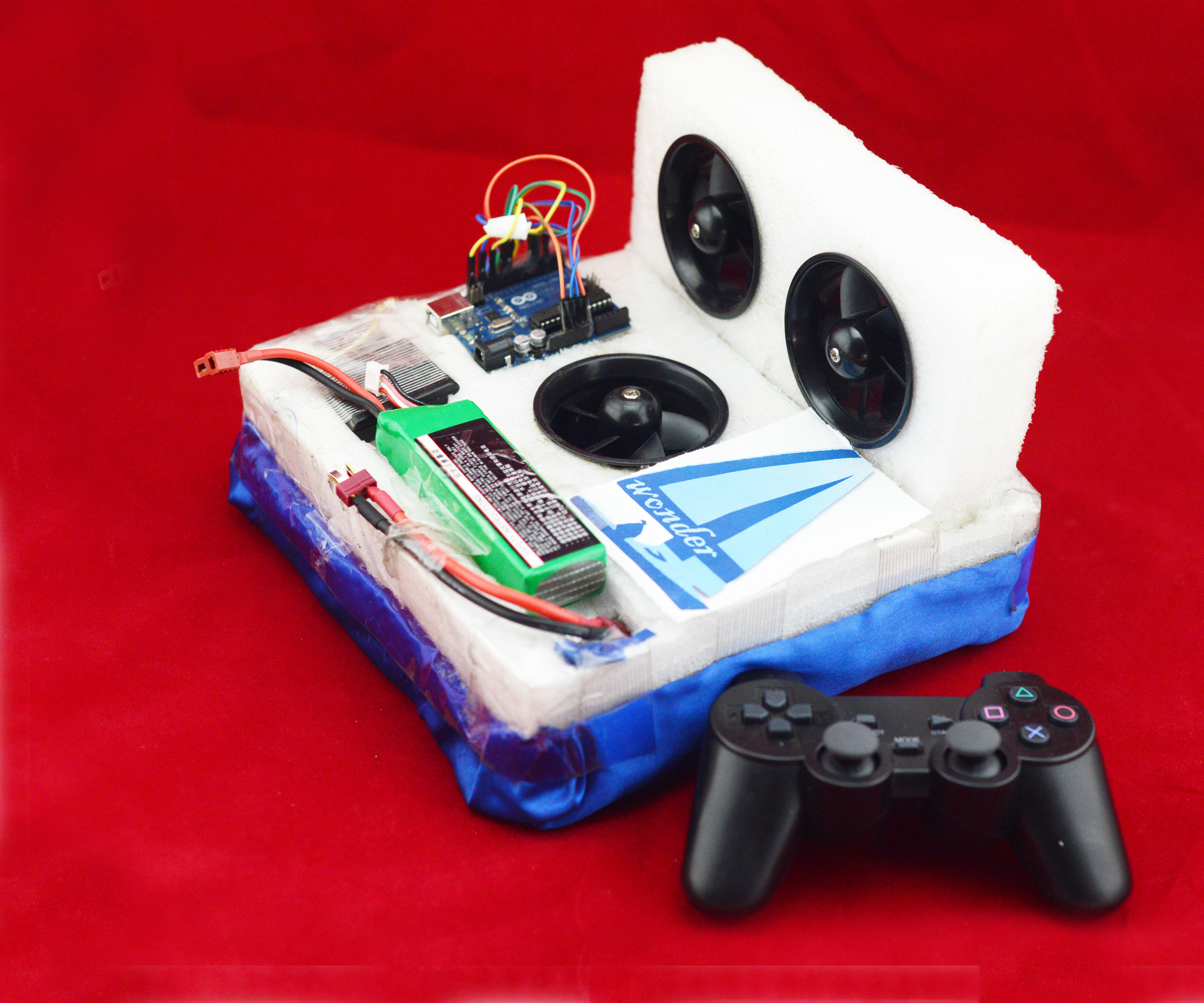 Wireless Controlled Hovercraft (Wonder4)