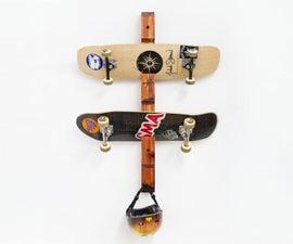 Simple Skateboard Rack